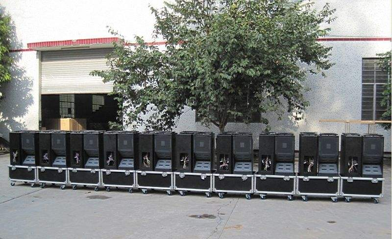 Line Array Products in flight case for shipping